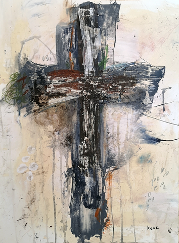 Original cross art painting