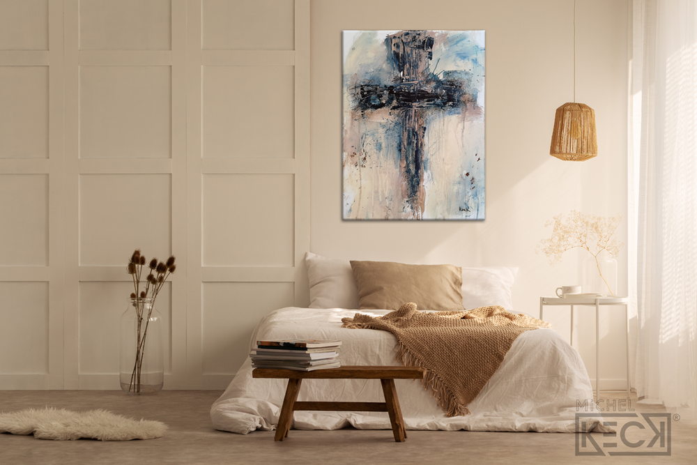 Load image into Gallery viewer, #112006 Abstract Cross Art Print