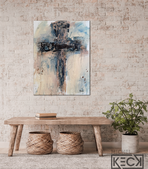 #112006 Abstract Cross Art Print