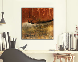 #120705 Untitled <br>From Gridlock Series <br>Canvas Art Print