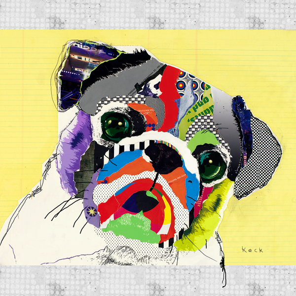Pug Dog Art by Michel Keck