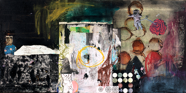 BIG Collage & Mixed Media Art Prints: Oversized Collage Art for Large Spaces