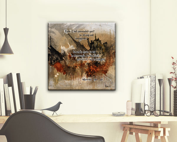 SCRIPTURE ART 121501  Joshua 1:9 Canvas Print