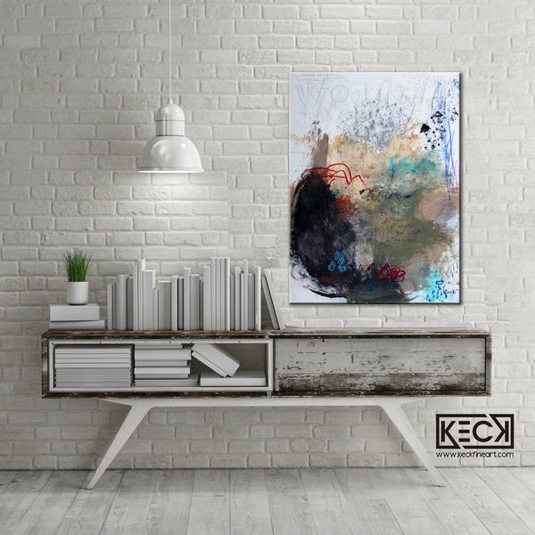 Abstract Canvas Art Print <br>2019 Collection <br>Title:  Wound <br> Michel Keck