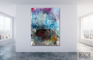 famous Nietzsche quotes in large abstract art paintings