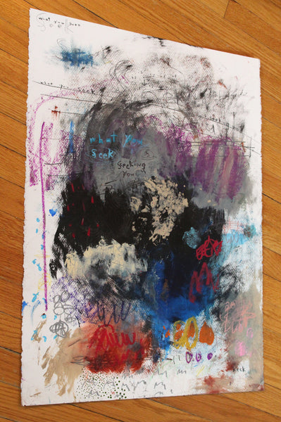 Original Abstract Painting <br>on Fine Art Paper<br>2019 Collection <br>Title:  What You Seek <br> Michel Keck