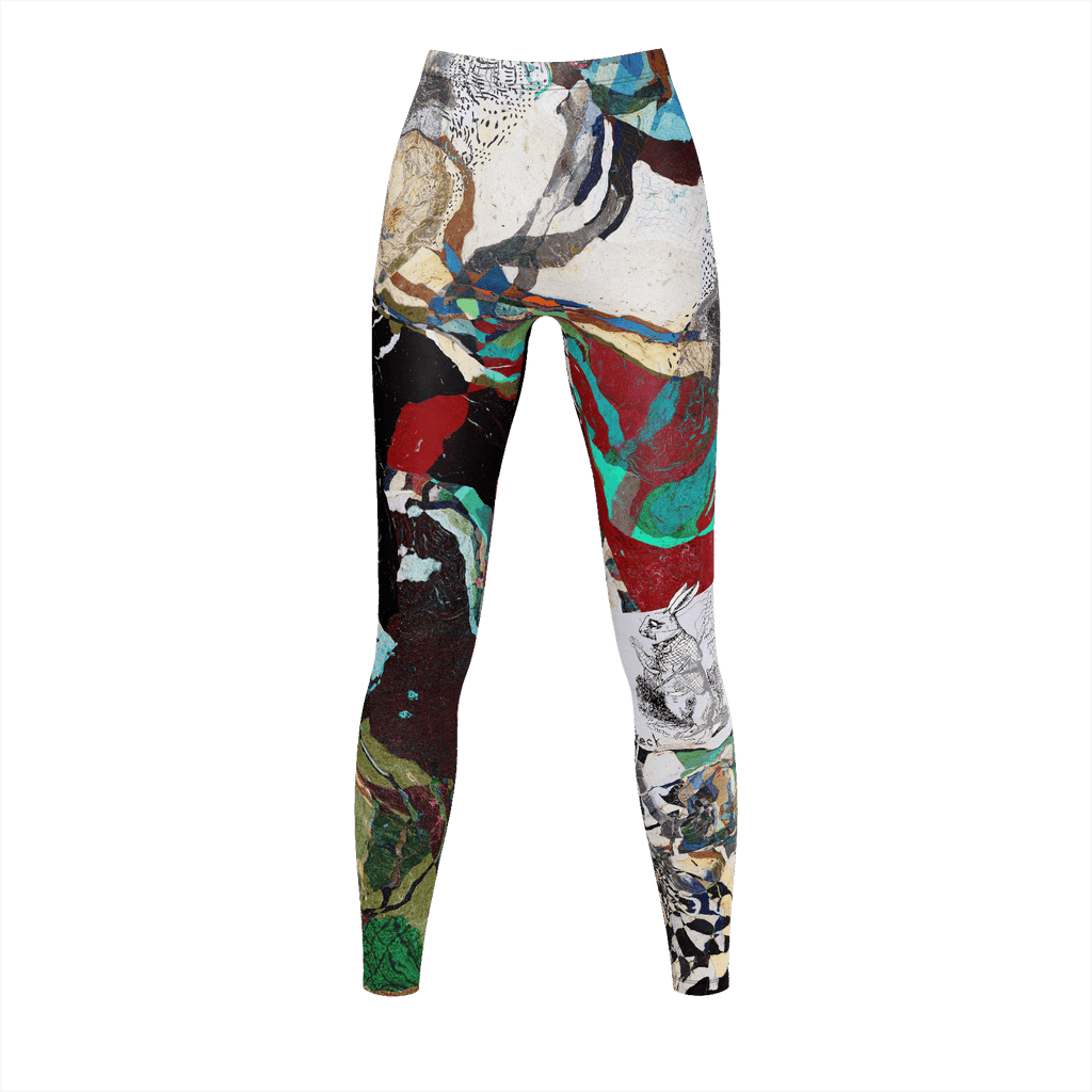 Michel Keck® Art Leggings - Curiouser and Curiouser