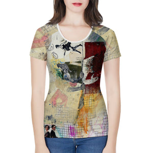 Women's All Over Print Tee - Balancing Act