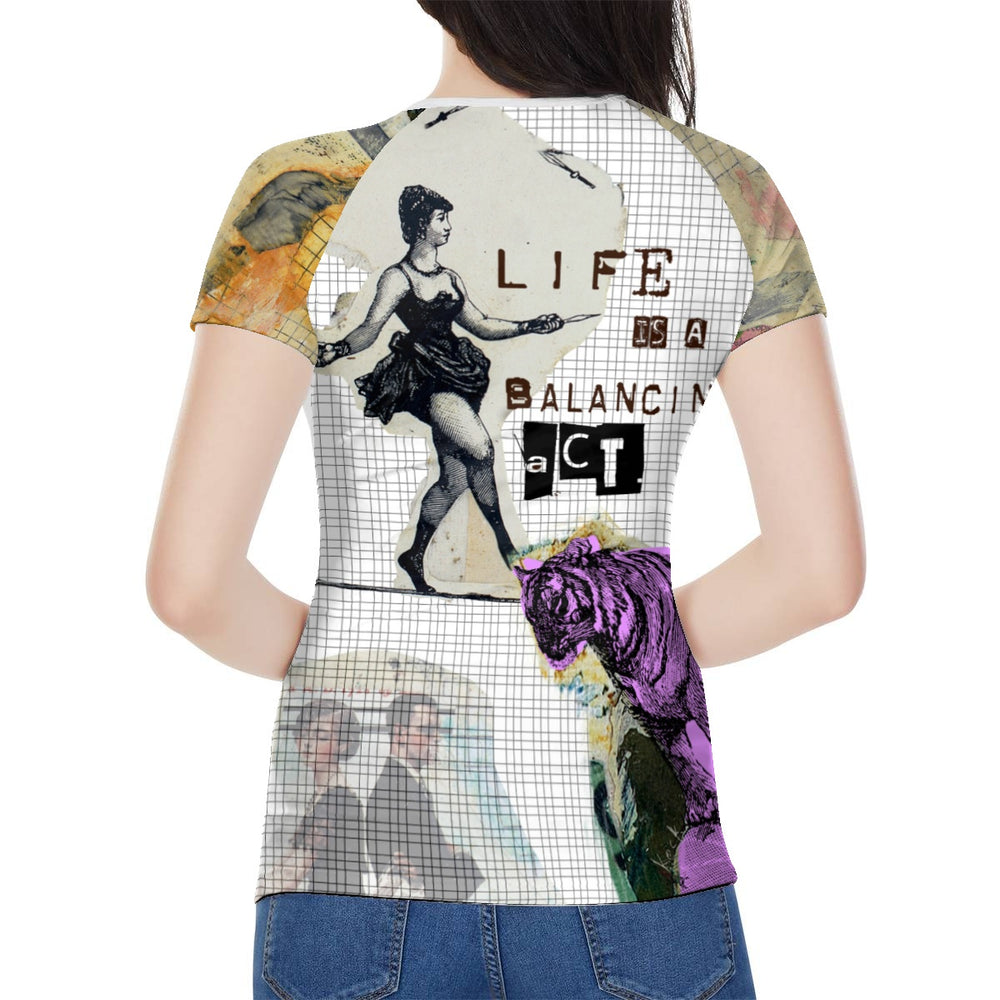 Load image into Gallery viewer, Women's All Over Print Tee - Balancing Act