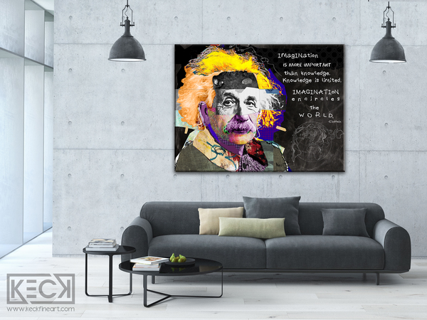 Albert Einstein canvas print