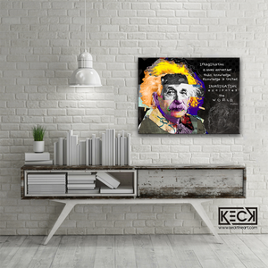 Albert Einstein colorful art print