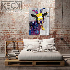 Load image into Gallery viewer, billy goat pop art
