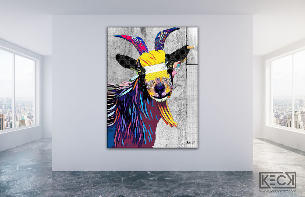 Load image into Gallery viewer, billy goat art