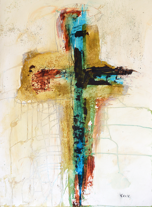Load image into Gallery viewer, #CA221 Abstract Cross Art Print