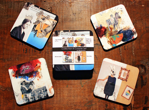 Art Coasters: Mixed Media Art Coaster Collection III