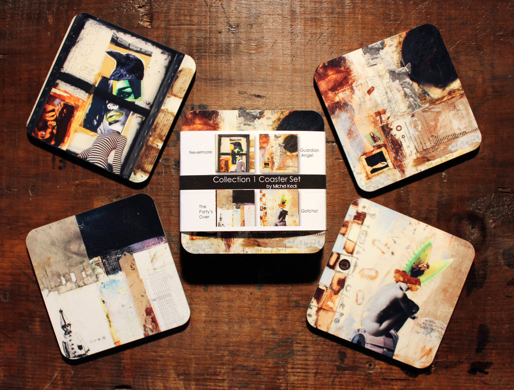 Art Coasters: Mixed Media Art Coaster Set - Collection I