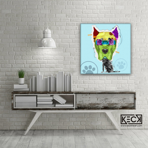 COLORFUL DOG ART BY MICHEL KECK