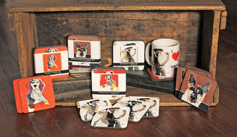 ART COASTERS - Keck Collage Dogs