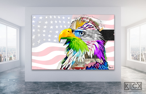 eagle american flag art