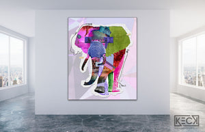 Load image into Gallery viewer, elephant art print