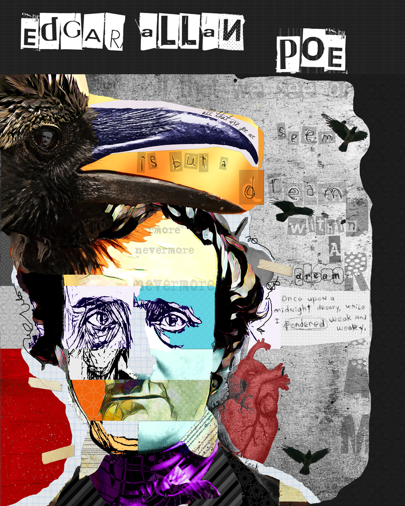 Load image into Gallery viewer, Edgar Allan Poe Throw Blanket