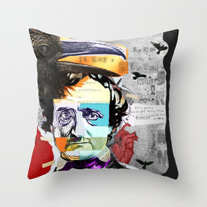 Load image into Gallery viewer, ART THROW PILLOWS | Edgar Allan Poe Artwork on Throw PIllows