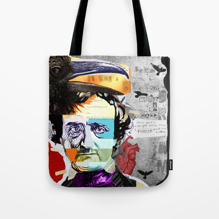 Load image into Gallery viewer, Edgar Allan Poe Tote Bag