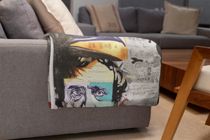 Edgar Allan Poe Blankets - Comfy Throw Blanket decked out in Edgar Allan Poe designs