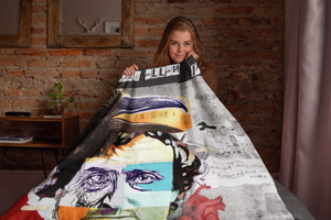 EDGAR ALL POE THROW BLANKET | Gifts for Edgar Allan Poe Lovers