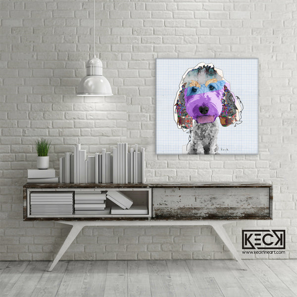 Abstract Dog Art Collage Canvas Prints