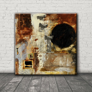 MIXED MEDIA ART Canvas Print of Guardian Angel