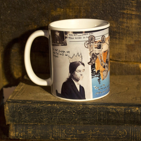 Mixed Media Art Coffee Mug: Measure