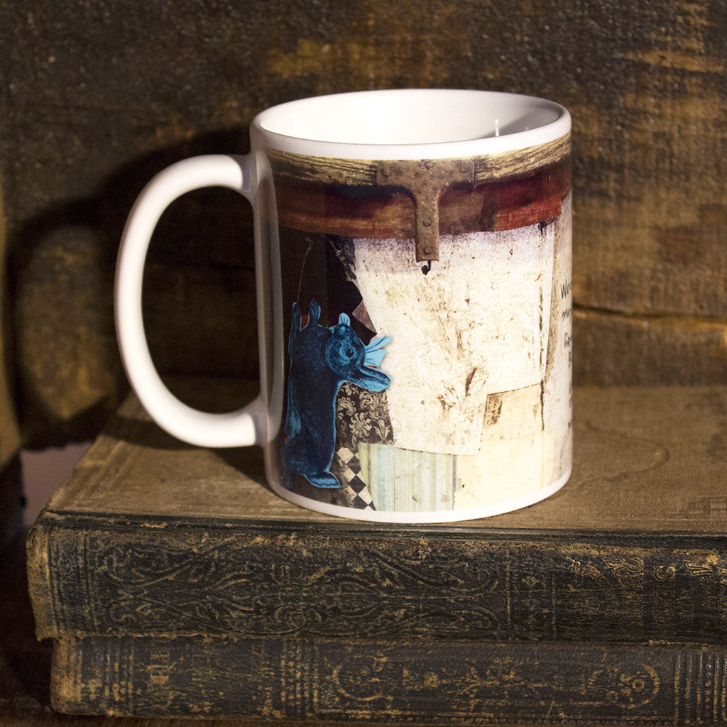 Mixed Media Art Coffee Mug: Joy Comes in the Morning