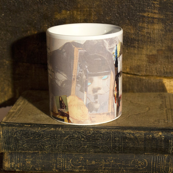 Mixed Media Art Coffee Mug: Ask