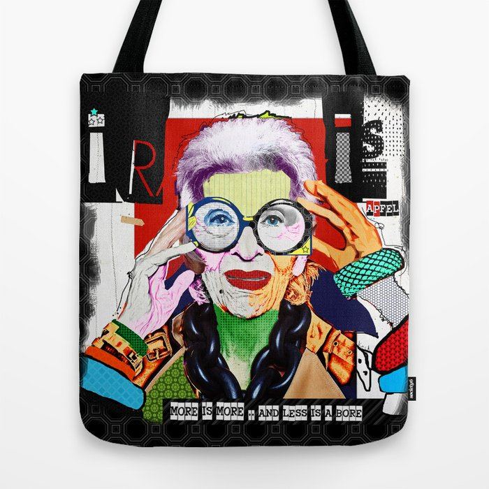 Iris Apfel Artwork by Michel Keck  IRIS APFEL TOTES