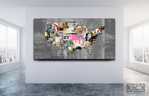LARGE MIXED MEDIA COLLAGE ART: Oversized Collage and Mixed Media Art Prints