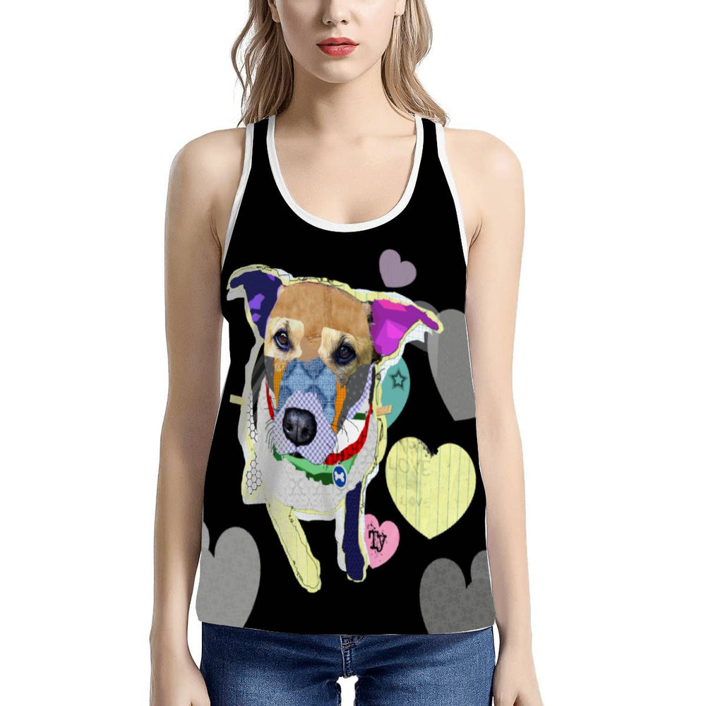 Women's All Over Print Tank - Ty Pit Bull Mix