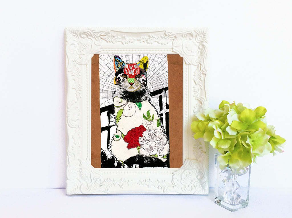ANIMAL ART Paper Print of Cat I