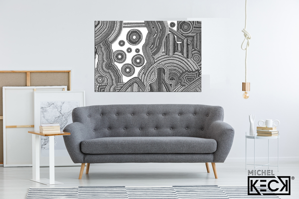 Circle Drawing #13 <br> Canvas Art Print