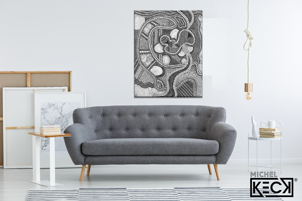 Load image into Gallery viewer, Circle Drawing #36 <br> Canvas Art Print