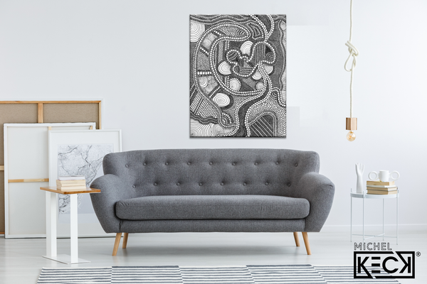 Circle Drawing #36 <br> Canvas Art Print