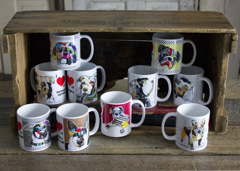 Dog Art Coffee Mugs 11 oz
