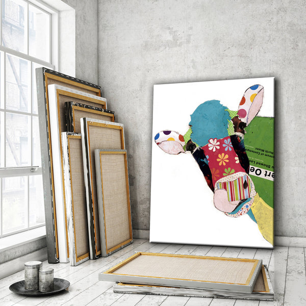 Cow I <br> Animal Art Canvas Print