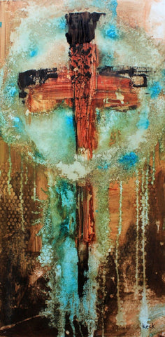 CROSS ART PRINTS. Abstract Cross Art Print. Religious & Spiritual Cross Art Prints.