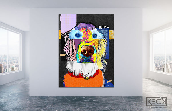 #021902 <br> English Golden Retriever <br> Canvas Art Print
