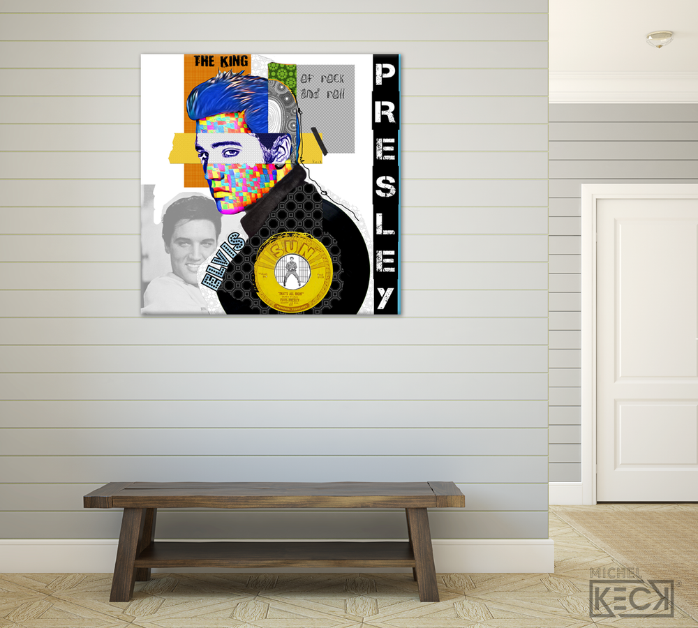 ELVIS PRESLEY LARGE ART PAINTINGS AND PRINTS