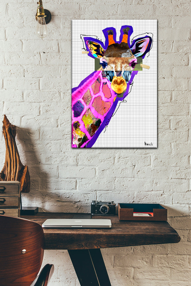 Load image into Gallery viewer, colorful giraffe art print