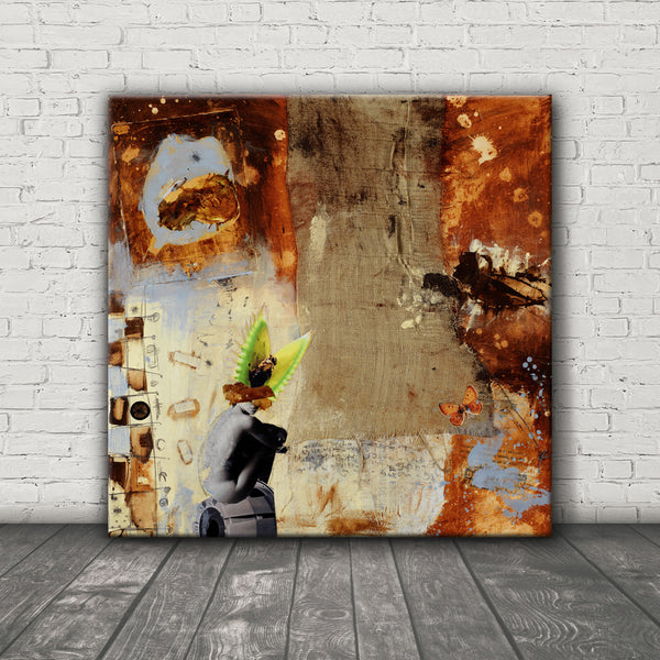 MIXED MEDIA ART Canvas Print of Gotcha
