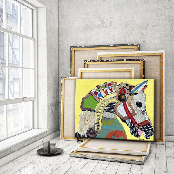 ANIMAL ART Canvas Print of Horse I