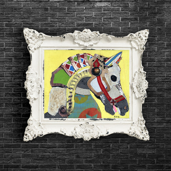 ANIMAL ART Paper Print of Horse I